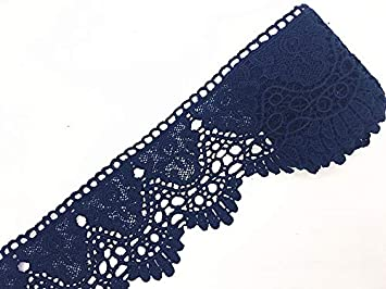 Ginkgo 9CM Width Europe Crown Pattern Inelastic Embroidery Lace Trim,Curtain Tablecloth Slipcover Bridal DIY Clothing//Accessories. 4 Yards in one Package