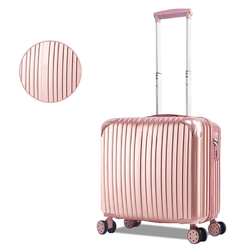ABSハードシェルキャビン荷物トロリーバッグ軽量持ち運び用スーツケース作り付けロック、4ホイール、高光沢ミラー B07MNST1JT Pink Large