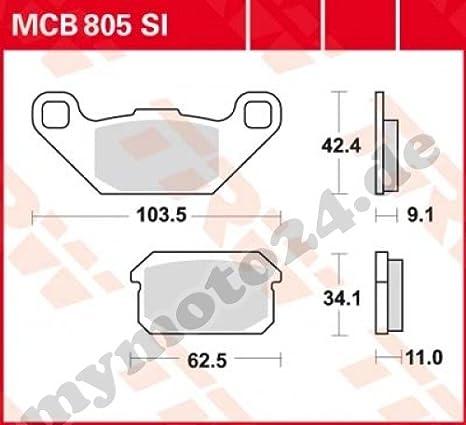 Bremsbelag TRW Lucas MCB805SI Sinter Offroad mit ABE f/ür Adly Hurricane 500 S Baujahr 2009