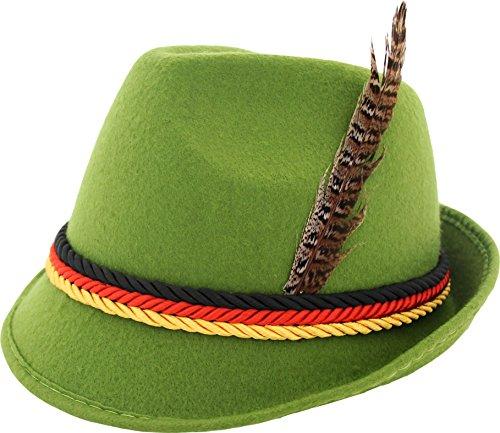 German Alpine Bavarian Oktoberfest Costume Hat With