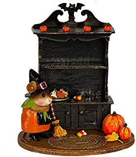 product image for Wee Forest Folk M-674b Collector's Halloween Curio - Orange Witch - Empty (New 2019)