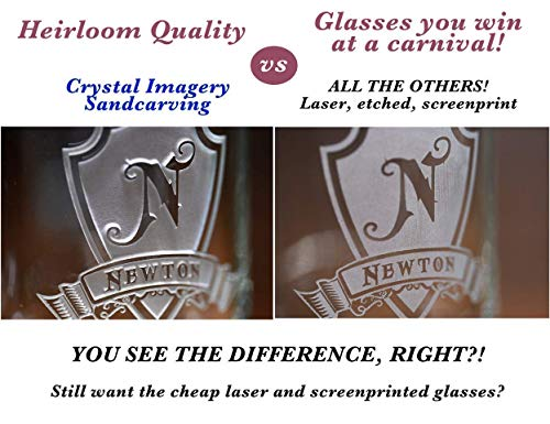 Glencairn Scotch Whisky Glass Engraved, Set of 2 (m30glen) by Crystal Imagery Engraved Glass Barware Gifts (Image #2)
