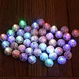 VIVOSKY 100pcs/lot 100 X Multi-Colored Round Led Flash Ball Lamp Balloon Light for Paper Lantern Balloon Light Party Wedding Decoration