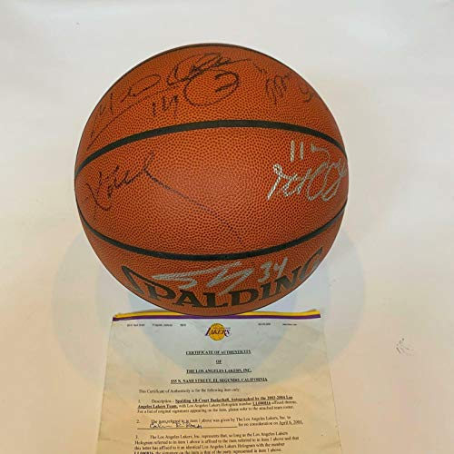 e5c22edd4bf 2003 Los Angeles Lakers Team Signed Basketball Kobe Bryant Shaquille O'neal  COA - Autographed Basketballs