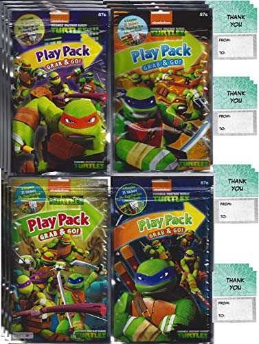 Teenage Mutant Ninja Turtles Grab n Go Play Packs Children's Party Favor Pack Bundle (12 Packs) -