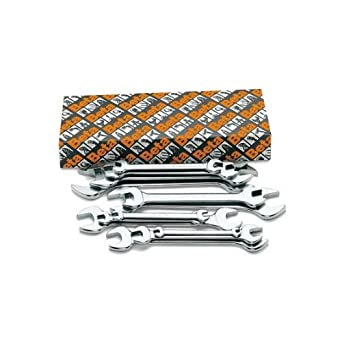 """Beta Tools 55AS 7//16/"""" x 1//2/"""" Double Open End Wrench Chrome Plated"""
