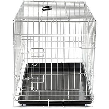 VADIGRAN Cage métallique pliable Classic - 76 x 48 x 55 cm - Argent - Pour