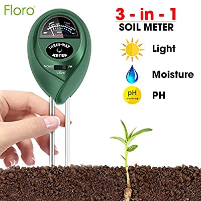 3-in-1 Soil Tester – Measures Light, Moisture & pH - Professional Gardening Tool for Farm, Kitchen Garden – No Batteries Required – Easy to Read Indicator - for Indoor or Outdoor Use