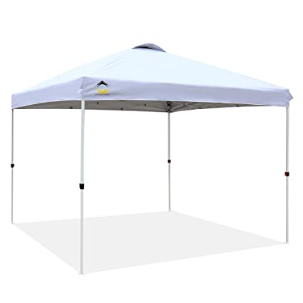 competitive price 1df60 b009c CROWN SHADES Patented 10ft x 10ft Outdoor Pop up Portable Shade Instant  Folding Canopy with Carry Bag, White