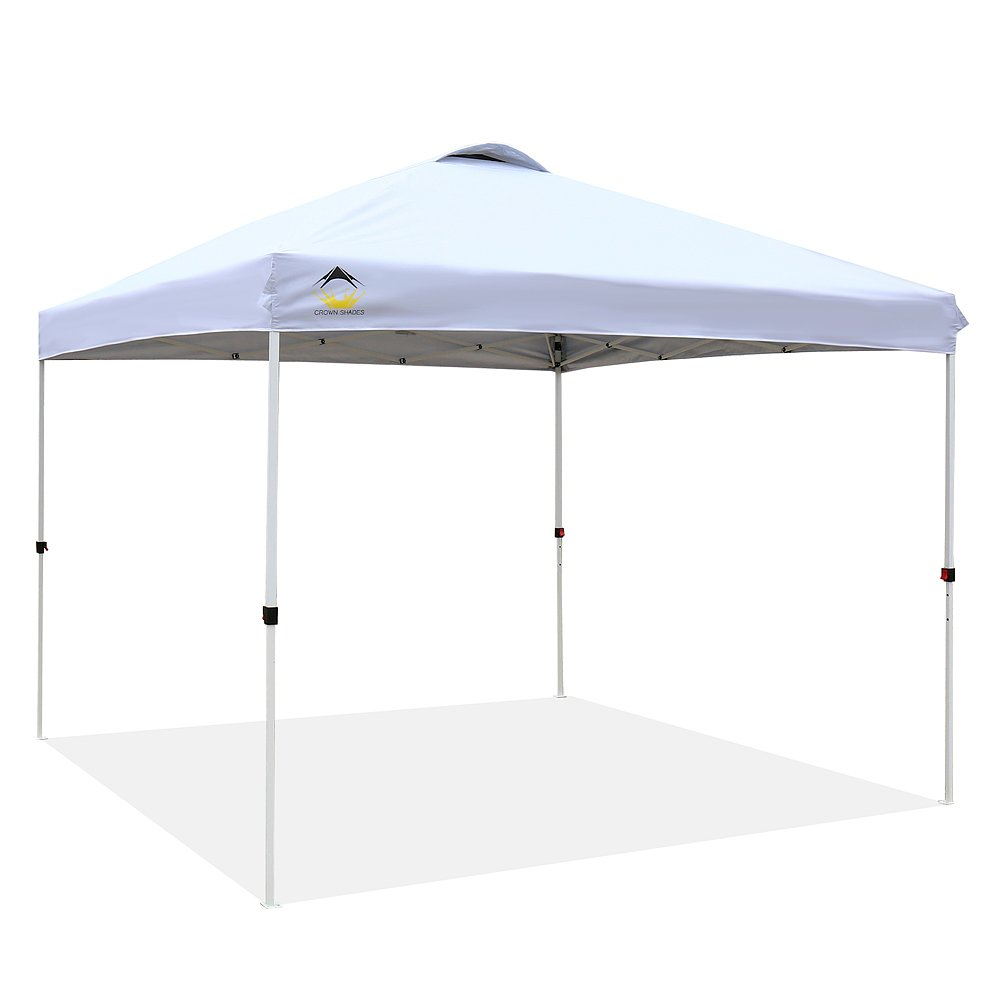 Crown Shades Patented 10ft X 10ft Outdoor Pop Up Portable Shade