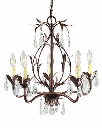 World Imports 81025-62 Berkley Square 5-Light Chandelier, Weathered Bronze (Weathered Bronze Five Light Chandelier)