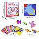 Gamenote Colorful Kids Origami Kit 118 Double Sided
