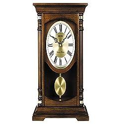 Seiko Mantle Pendulum Chime Base White Dial Quarter-Hour Clock - QXQ034BLH