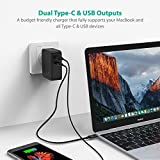RAVPower 36W Dual USB Wall Charger for MacBook - Black
