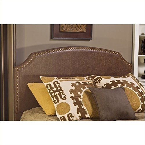 Hillsdale Durango Fabric King Headboard, Brown Faux Leather, 1055-670