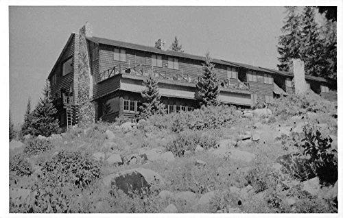 Brighton Utah Alpine Rose Lodge Real Photo Antique Postcard K55322 (Antique Utah)