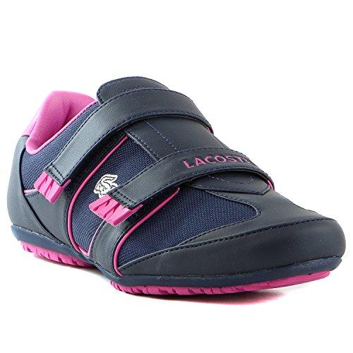 Lacoste Arixia Fashion Sneaker Shoe Dark BluePink Womens 9