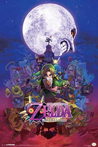 Laminated The Legend of Zelda Majoras Mask Nintendo Fantasy Video Game Series Link Princess Sign Poster 12x18 inch (Legend Of Zelda Ocarina Of Time 3ds Price)