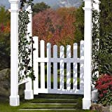 48.5'W Vinyl Cottage Picket Gate