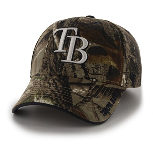 Tampa Bay Rays Single - '47 MLB Tampa Bay Rays Frost MVP Adjustable Hat, One Size, Realtree Camouflage