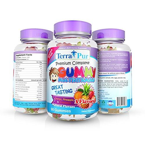 Prime complète Gummy multivitamines pour enfants par TerraPur