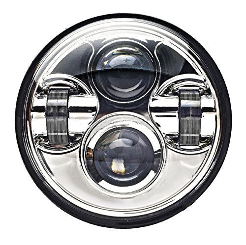 Eagle Lights 5.75 inch Chrome LED Projection Headlight for Harley Sportster, Indian Scout and all other motorcycles with 5.75 inch headlight