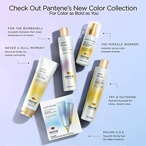 Pantene Moisturizing Shampoo 25.4 OZ and Silicon-Free Conditioner 24 OZ for Dry Hair, Daily Moisture Renewal, Bundle…