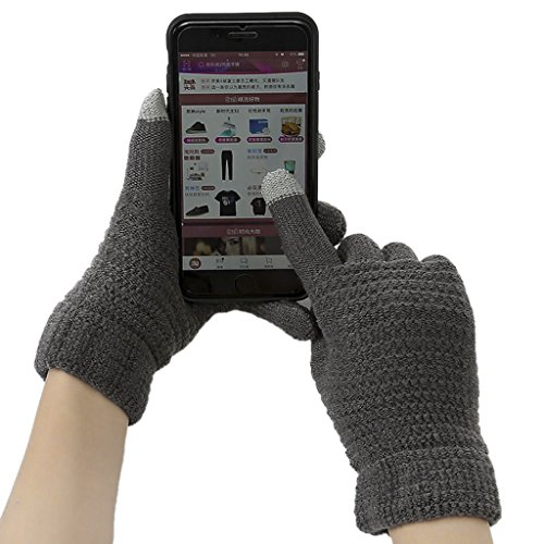 Unisex Touch Screen Gloves, Women Men Touchscreen Texting Gloves Hand Warmer Thermal Mittens Outdoor Sports Cycling Motorcycle Hiking Windproof Winter Thick Wool Knitted Warm Gloves Chritsmas Gift