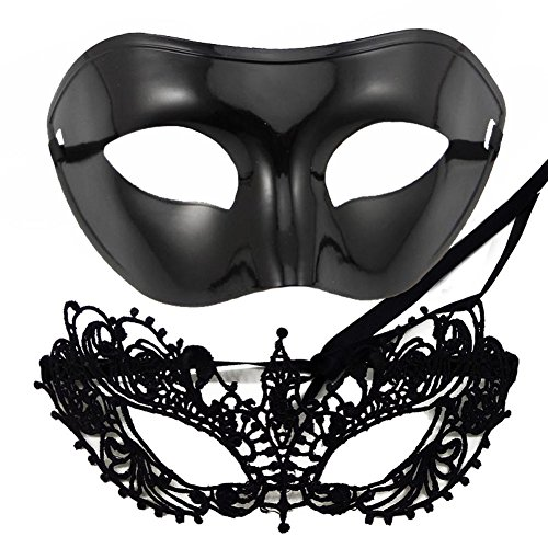 IDOXE US Size Masquerade Mask for Couples Venetian Halloween Costume … (Ana (Halloween Fancy Dress For Couples)