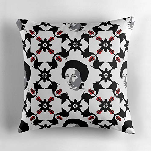 Kidmekflfr Rosa Luxemburg Cotton Square Throw Pillow Cover Decorative Cushion Sofa Home Decor Accent Pillowcase Slip Cover Encasement 18x18 Inches