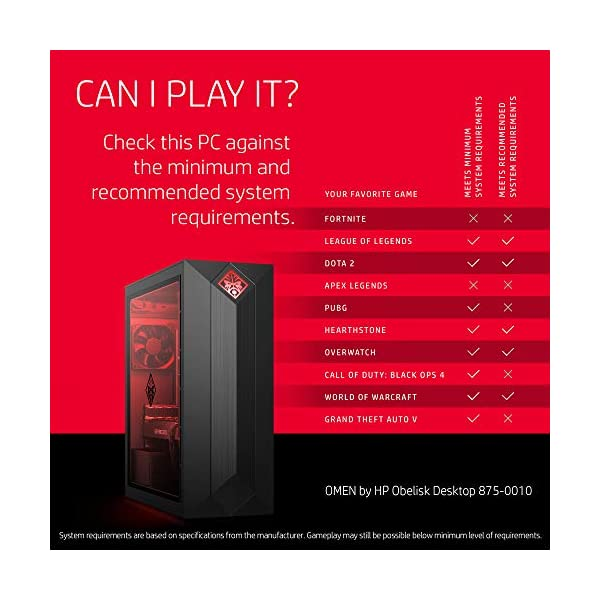 OMEN by HP Obelisk Gaming Desktop Computer, AMD Ryzen 5 2600 Processor, NVIDIA GeForce GTX 1060 6 GB, HyperX 8 GB RAM… 3