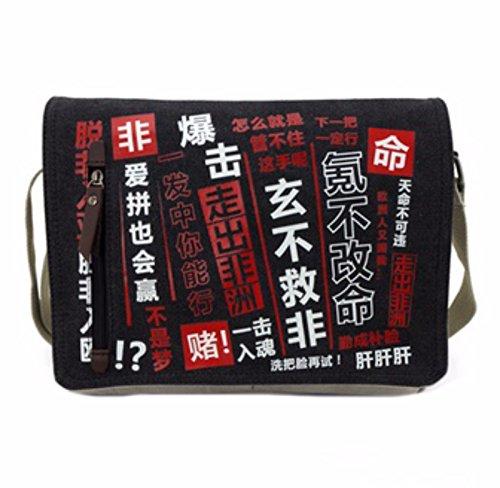 rare Schultertasche Tasche Shoulder Bag Rucksack reisetaschen Schwarz Rot chinese new