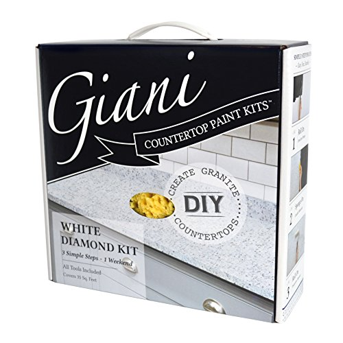 Giani Countertop Paint Kit, White Diamond House Tile Marble