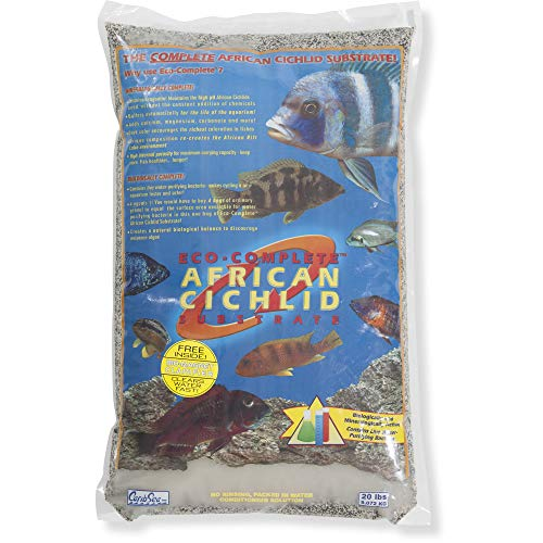 Carib Sea Eco-Complete African Cichlid Substrate, 20-Pound, Live Sand for Aquarium