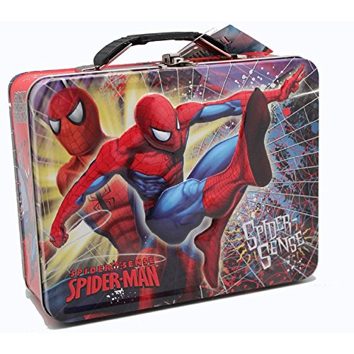 Spiderman Spider-Sense Embossed Metal Lunch Box/ Carry-All (Box Man Lunch Spider Tin)