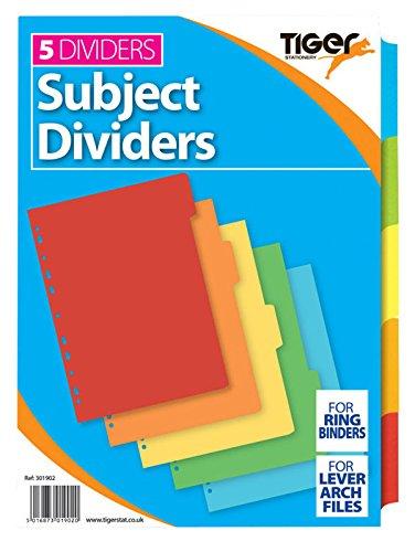 10 x A4 5 parte de colores fuerte archivador de sujetos separadores de índice con pestañas