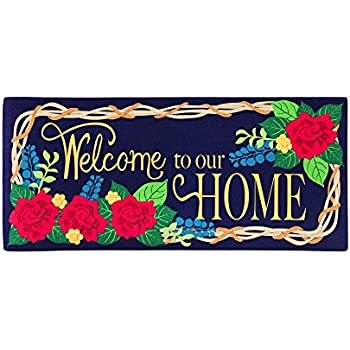 10 x 22 inches Evergreen Enterprises Inc. Evergreen Patriotic Hearts Decorative Floor Mat Insert