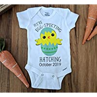 We're Egg-specting onesie Hatching soon Easter Pregnancy Announcement Reveal