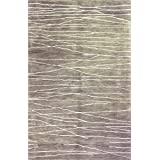 Bashian GREENWICH HG238 Collection Hand Tufted Wool  amp; Viscose Area Rug, 8 #39; x 8 #39;, Stone