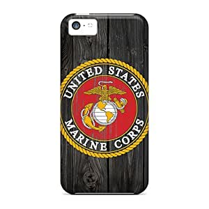 New Style Case Cover IIX827alKt Usmc Logo 2 Compatible With Iphone 5c Protection Case