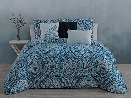 Steve Madden Vera 6 Piece Comforter Set - Queen - Blue, ()