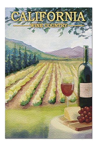 California - Wine Country (20x30 Premium 1000 Piece Jigsaw Puzzle, Made in USA!)
