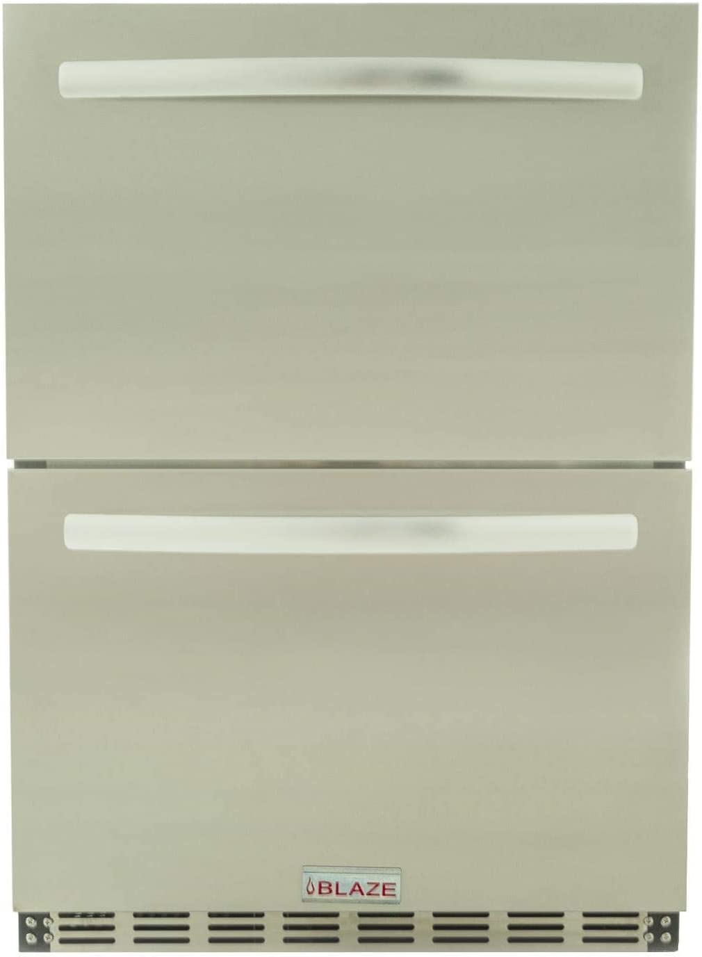 Blaze 23.5-Inch 5.1 Cu. Ft. Outdoor Rated Stainless Steel Double Drawer Refrigerator - BLZ-SSRF-DBDR5.1