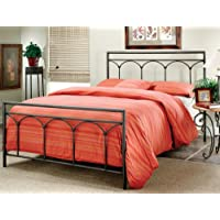 Hillsdale Furniture 1092BQ McKenzie Bed Set, Queen, Brown Steel