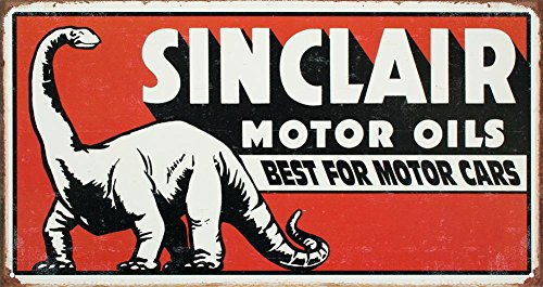 Sinclair Motor Oil Best For Motor Cars Distressed Retro Vintage Tin Sign - Sinclair Oil Sign