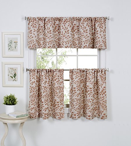 Elrene Home Fashions 026865923667 Kitchen Tier and Valance S