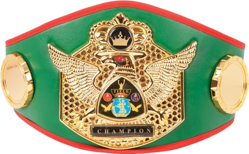 Costume Boxing Championship Belt (Triumphant Wings Of Victory Title Belt, Green)