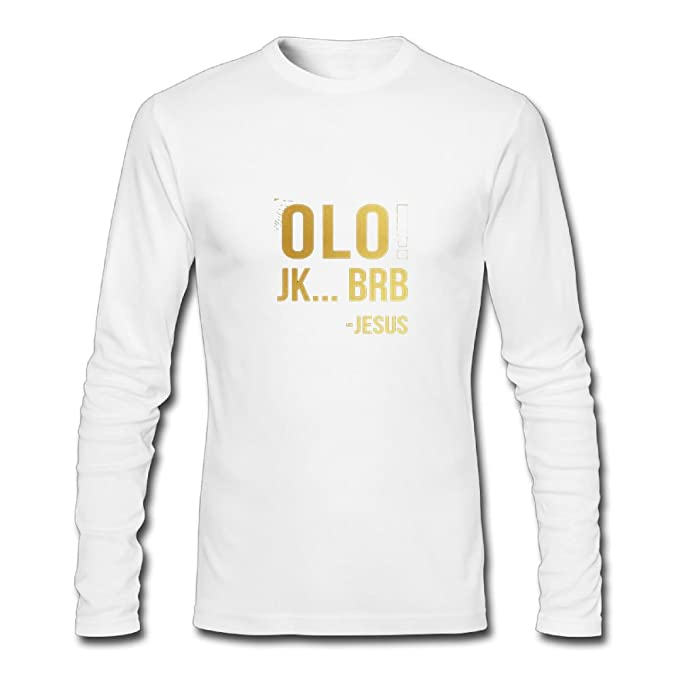 aca363f8c YANG LILI Neck Long Sleeve Cotton T Shirt For Men Olo JK BRB Jesus Tee  Shirts