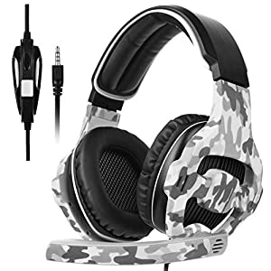 PS4 Xbox One Gaming Headset, SADES 810 PC Gaming Headphone 3.5mm Jack Stereo Sound Over-ear Headphone with Microphone Volume Control