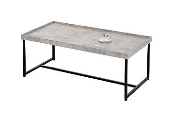 Meubletmoi Couchtisch Rechteckig 120 Cm Fuß Metall Tablett
